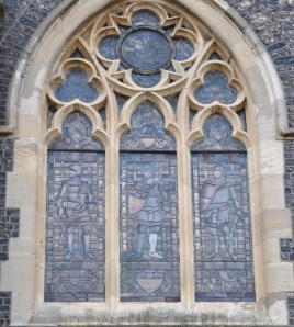 Stained Glass window on the old Town Hall in Dover.
